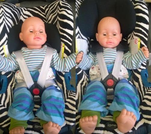 Babyschale Kopfstütze zu niedrig zu hoch