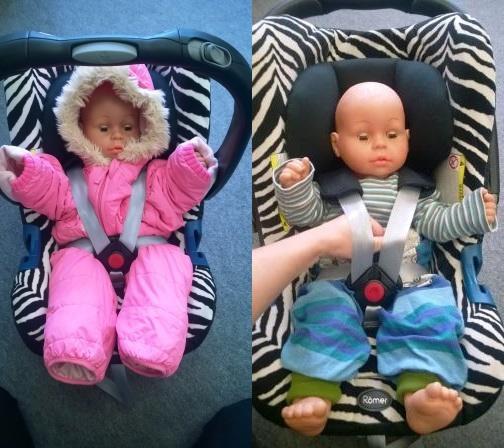 Winterkleidung Babyschale Gurtlose